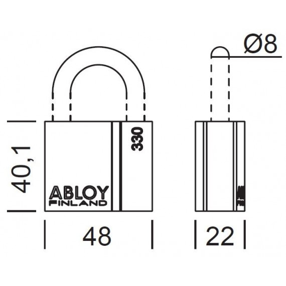 ABLOY - PL330T/50 PROTEC2